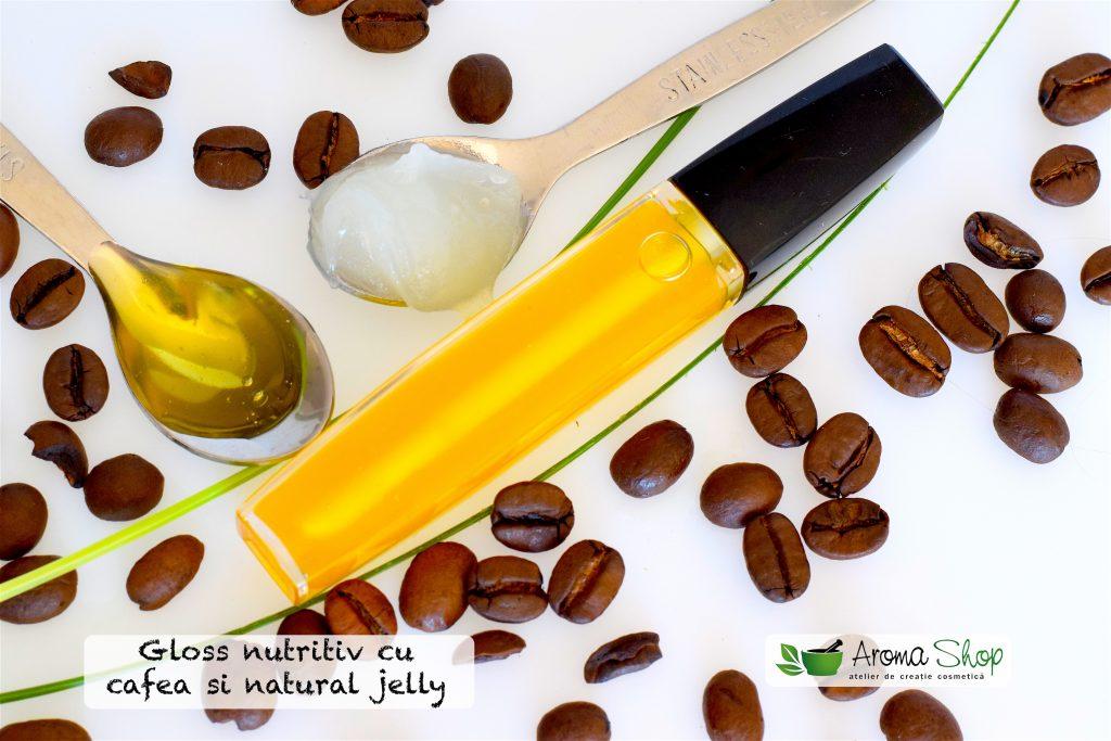 Lip gloss cu natural jelly si cafea