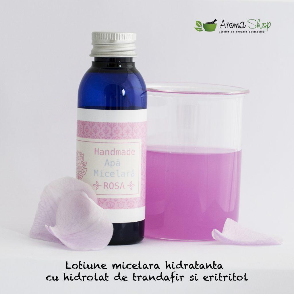 Lotiune micelara cu hidrolat de trandafir si eritritol