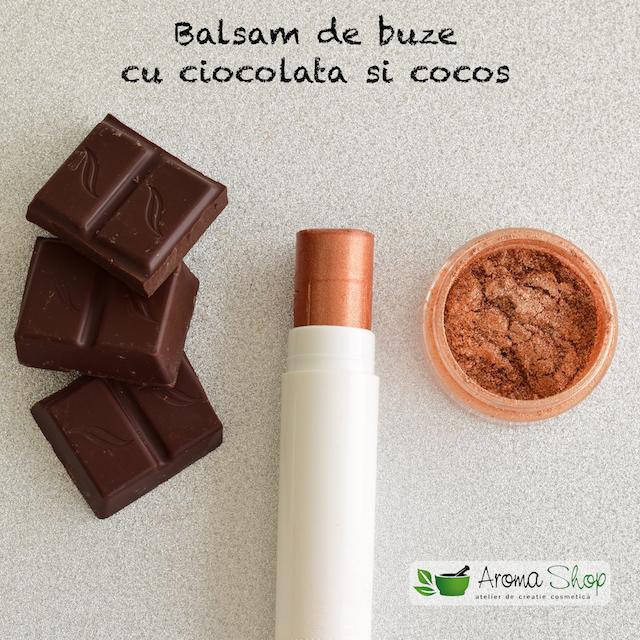 balsam de buze cu ciocolata si cocos
