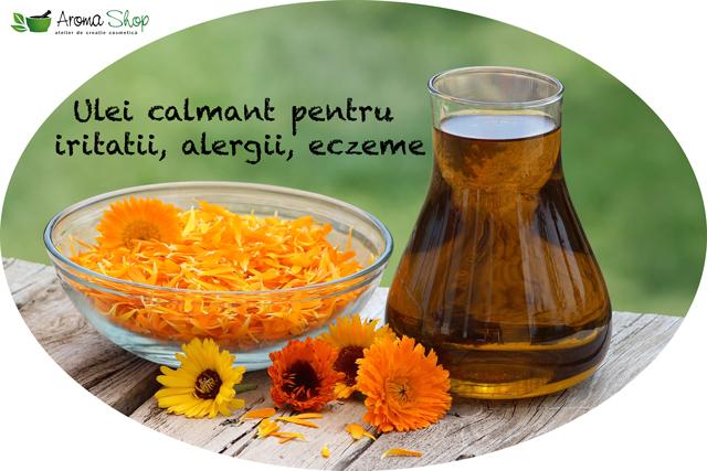 Ulei natural pentru iritatii, alergii si eczeme